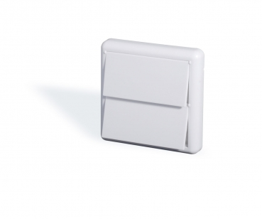 Exhaust vent, white, with lid 9 x 9 cm DN50.8