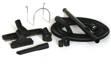 Cleaning kit with stretch hose