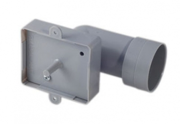 Mounting frame with 90° connection for wall and floor inlet valve stainless steel DN50.8