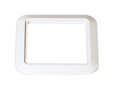 Variovac Trim plate for Design inlet valve, white RAL9016