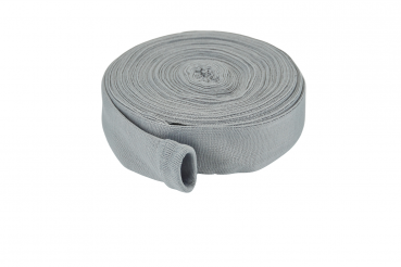 Hose protection sock, 12m grey, cotton, incl. assembling aid