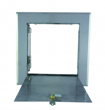 Laundry chute door, stainless steel for T-piece 295/295