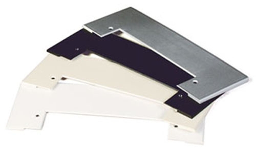 Trim plate for Vac Pan, stainless steel design RAL9007