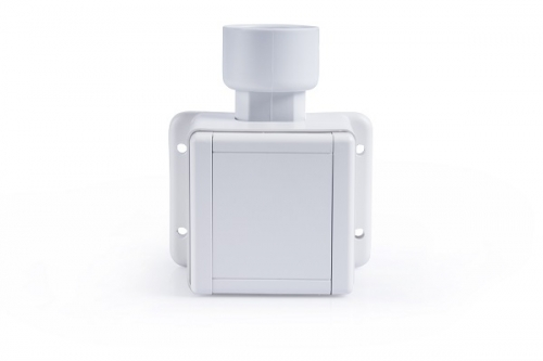 Surface mounting frame with design inlet valve white RAL 9016 DN50.8