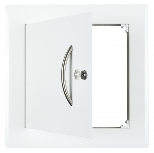 Laundry chute door, white for T-piece 295/295