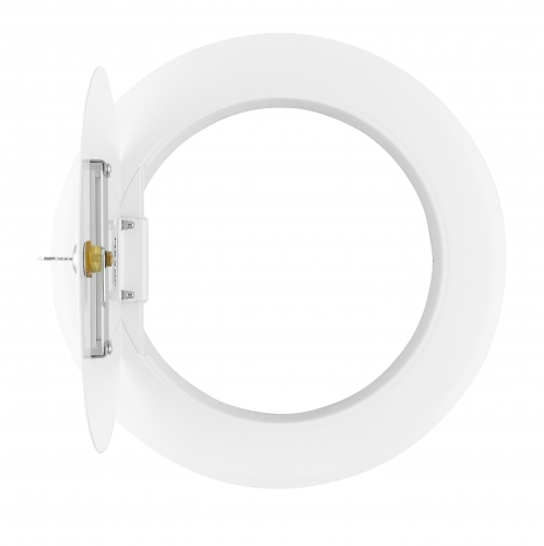 Laundry chute door round, Ø 300, white, RAL9016 with handl and looking band