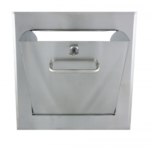 Laundry chute door dump body, stainless steel for T-piece 295/295