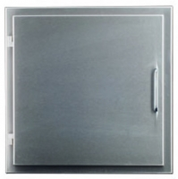 Laundry chute door DN 280, stainless steel